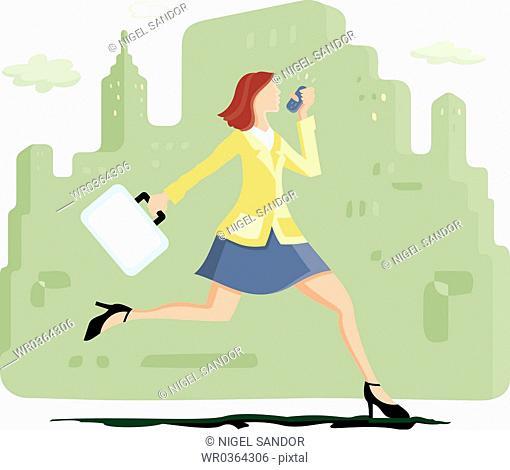 Running Business Lady