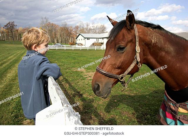 Young Boy with Horse
