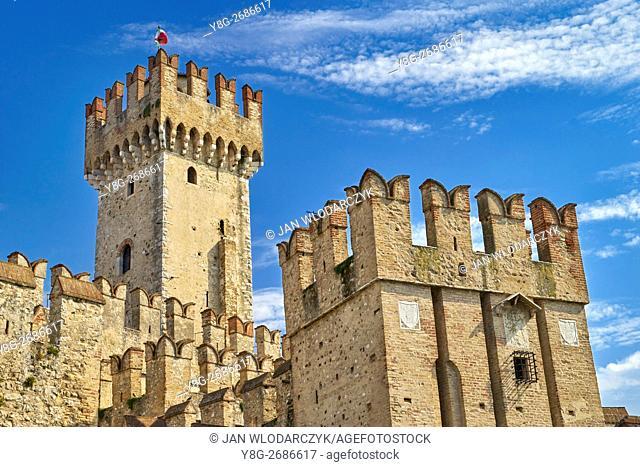 Scaliger Castle, Sirmione, Garda Lake, Lombardy, Italy