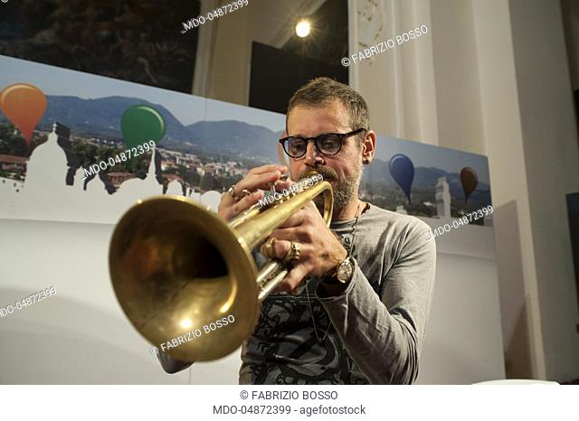The trumpet player Fabrizio Bosso in a live performance during the event Panorama d'Italia. Bari, Italy. 6th November 2015