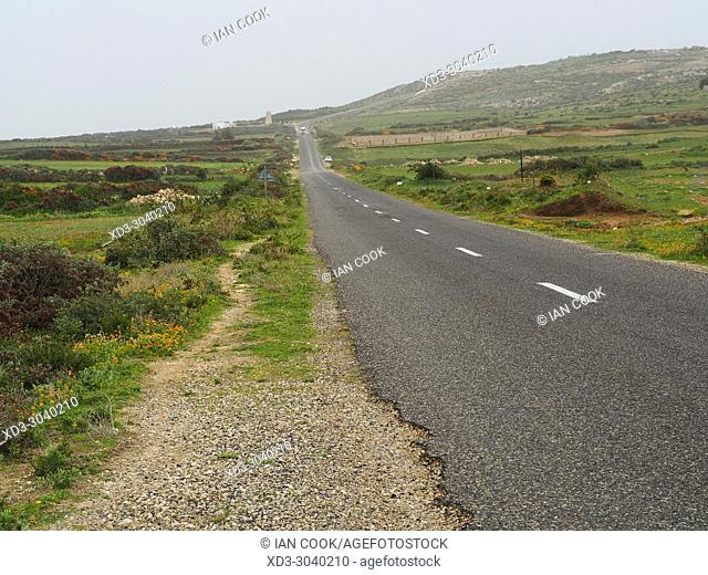 Highway R301 north of Essaouira, Morocco