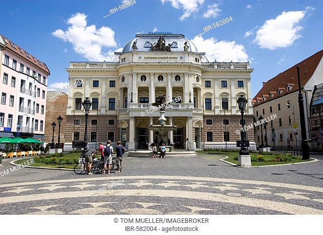 Slovakian national theatre, Hviezdoslavovo námestie square, Bratislava Slovakia