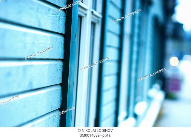 Vertical wooden window city bokeh background hd