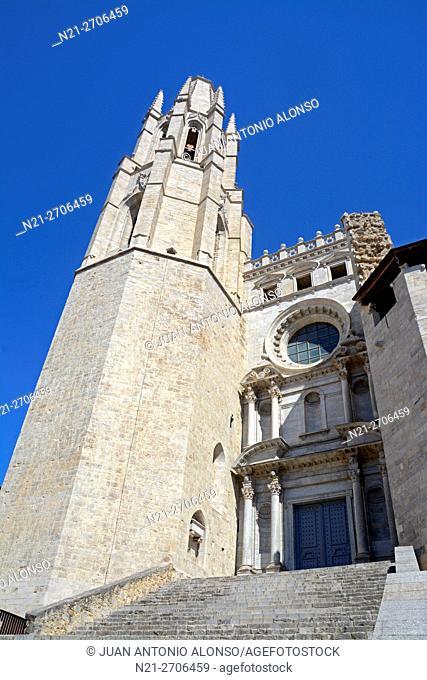 Sant Feliu or San Felix Church. City of Girona, Catalonia, Spain, Europe