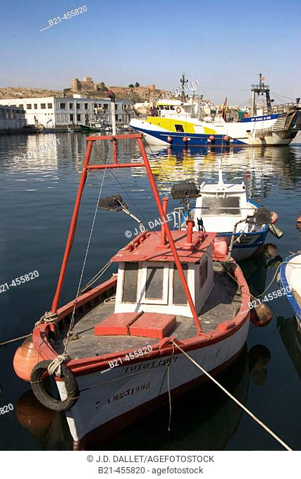 The fishing harbour. Almería. Andalucia. Spain