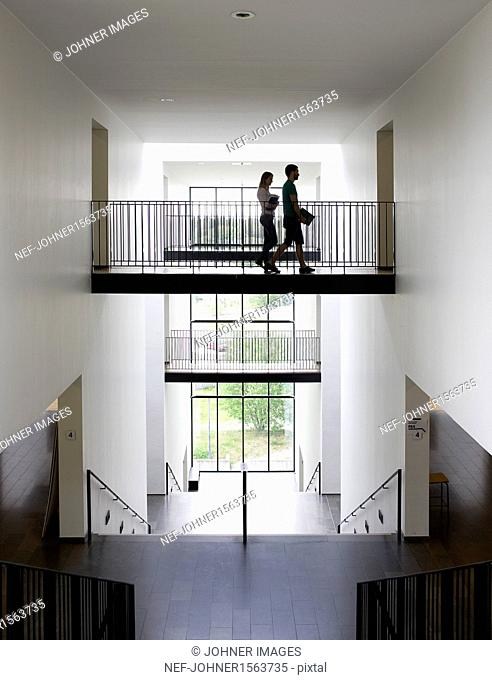 University students on corridor