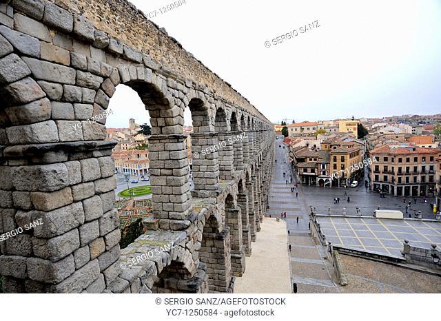 roman aqueduct, segovia, spain