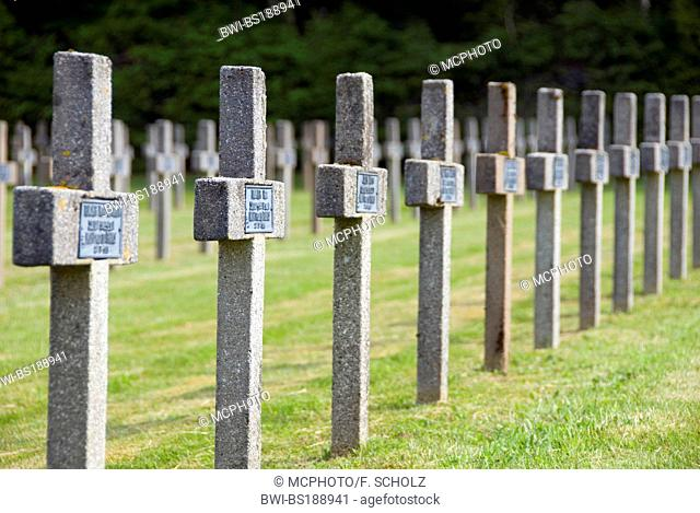 'Le Linge', French war cemetery at Col du Wettstein, France, Vosges Mountains, Alsace