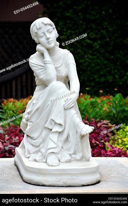 Angel sculpture in the park, Bangkok, Thailand
