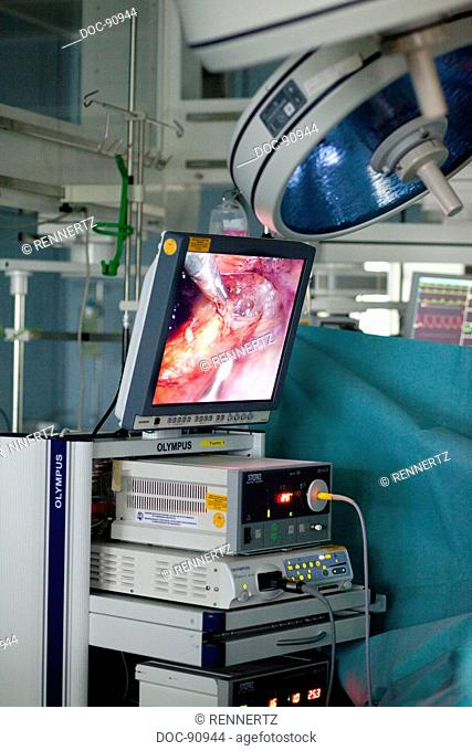 operation through the abdominal wall with a laparoscope