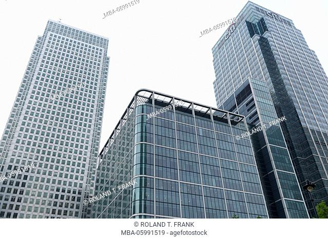England, London, modern architecture in the docklands