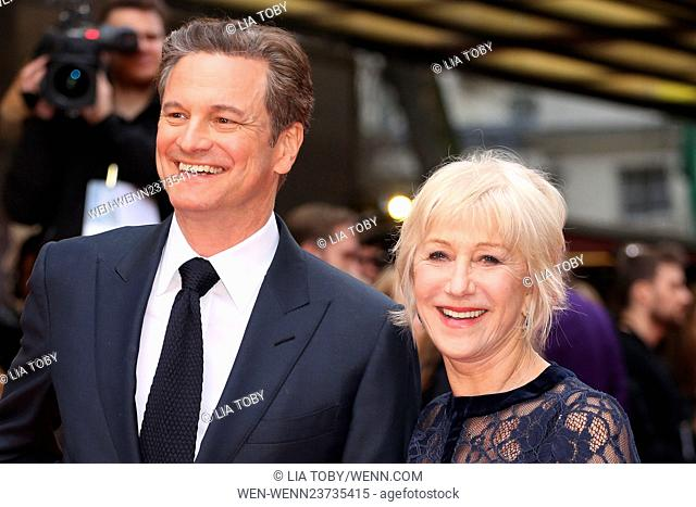 'Eye in the Sky' UK Premiere held at the Curzon - Arrivals Featuring: Colin Firth, Dame Helen Mirren Where: London, United Kingdom When: 11 Apr 2016 Credit: Lia...