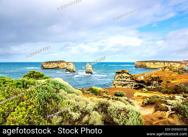 An image of the rough coast at the Great Ocean Road Australia