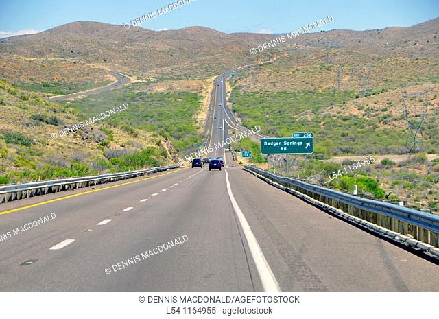 Arizona Desert along Interstate I-17 North of Phoenix