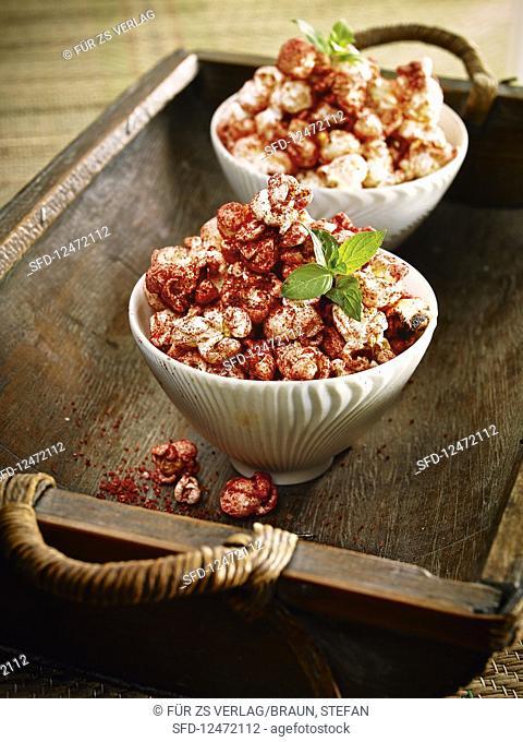 Spiced popcorn with Ras el Hanout