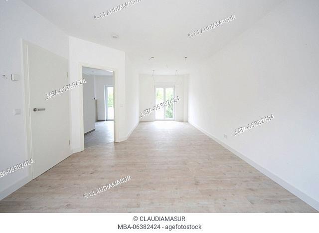 new construction, flat, empty