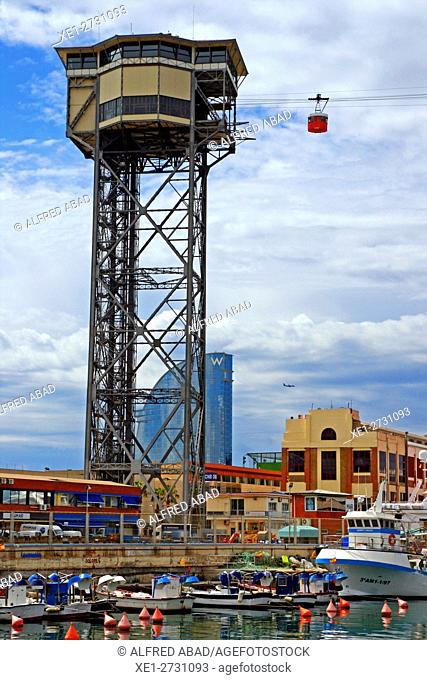 Cableway, Barcelona, Catalonia, Spain