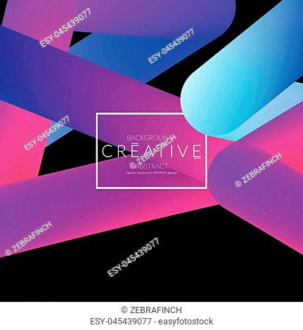 Abstract 3d liquid fluid color shape. Creative Modern Square wed banner template. Bright neon gradient blend creating innovative 3D effect