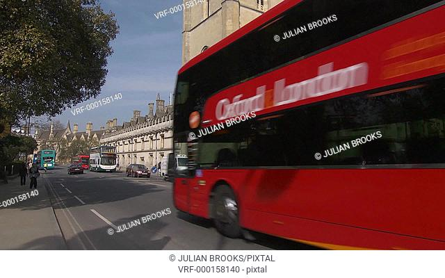 Oxford High Street with buses and traffic - 2