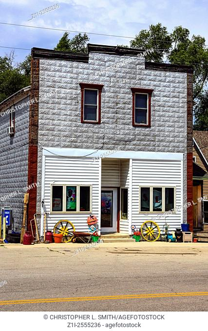 Small town Store in Kingston Wisconsin. As with many places in America, ghost towns are all that remains of once thriving communities