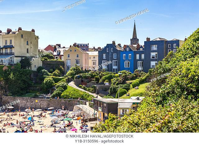 Castle Beach, Tenby, Wales, UK