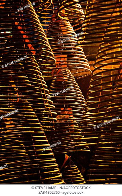 Incense coils in A Ma temple, Hong Kong, China