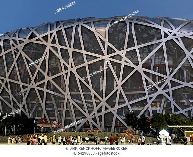Beijing National Stadium or Bird's Nest, Olympic Green, Beijing, China