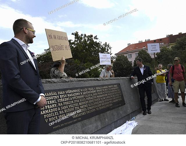 Unveiling of restored memorial to Soviet Marshal Konev with new plaques describing his life and work was held in Prague, Czech Republic, on August 21, 2018