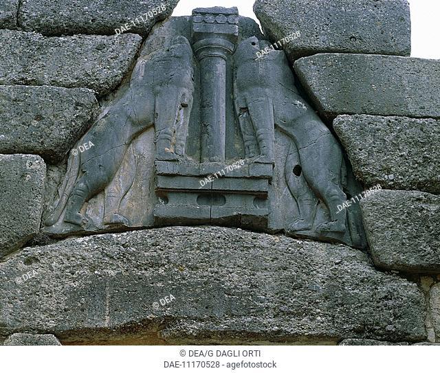 Greece - Peloponnesus - Mycenae. Lion Gate
