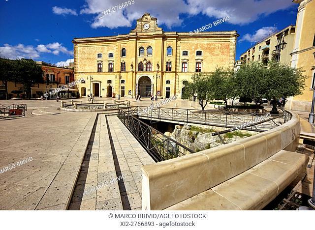 Piazza Vittorio Veneto (Vittorio Veneto Square), Matera, Italy. Matera is a city and a province in the region of Basilicata, in Southern Italy