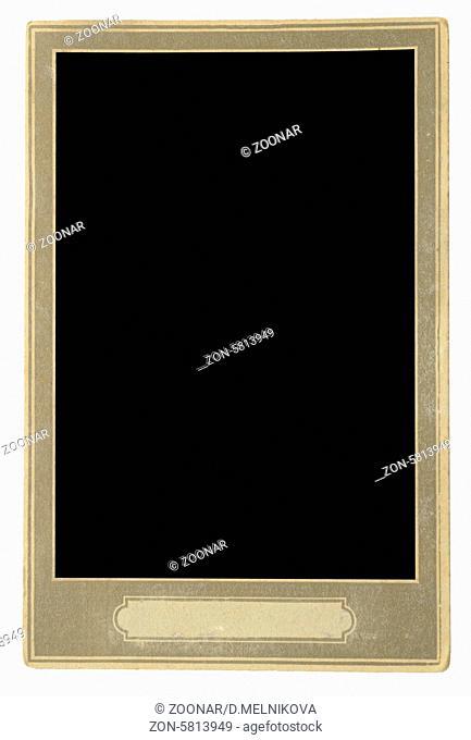 real vintage photo frame on white
