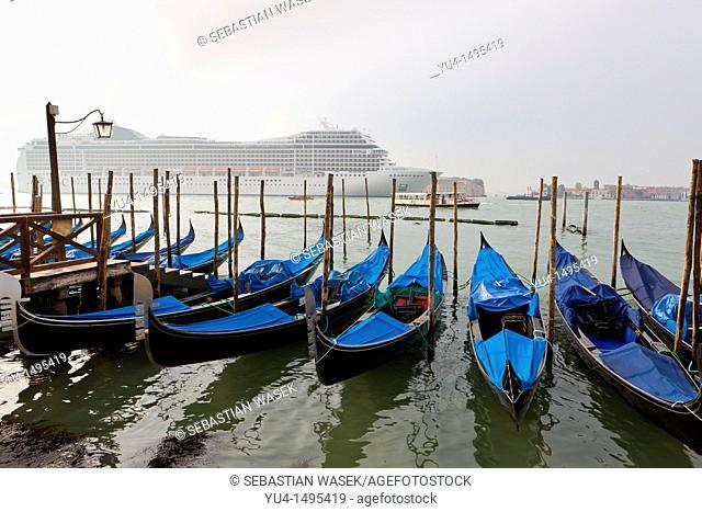 Cruise ship in Venice, Veneto, Italy, Europe Venice, Veneto, Italy, Europe