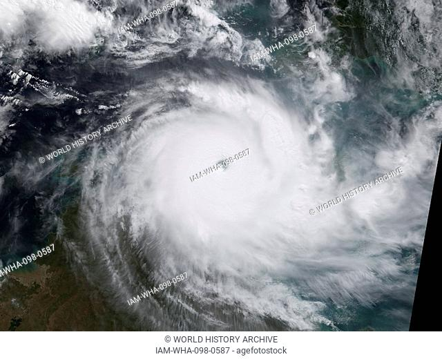 Tropical Storm Monica (Duration September 28 – October 2, 2006), reached a peak intensity of 50 mph (85 km/h) (1-min). In late September