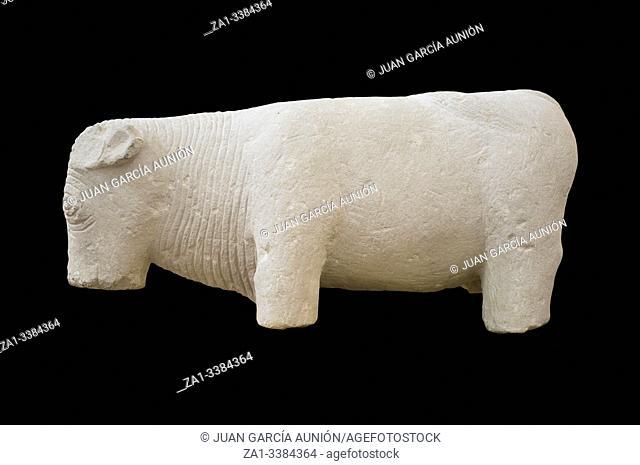 Iberian bull of Ecija, 1st Century BC at History Museum of Écija, Seville, Spain