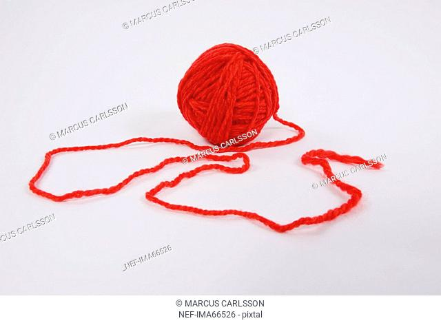 A red ball of yarn