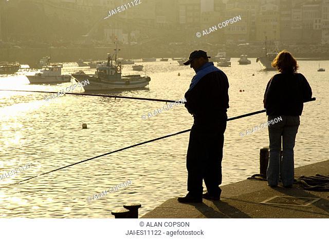 Malpica Harbour Costa Morte, La Coruna Province, Galicia, Spain