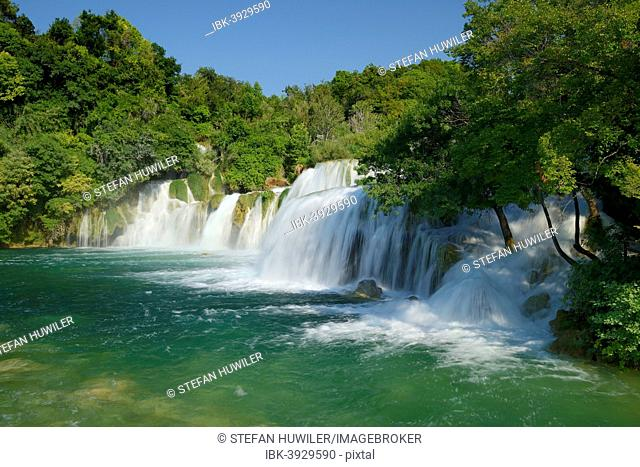 Skradinski buk waterfall, Krka National Park, Dalmatia, Croatia