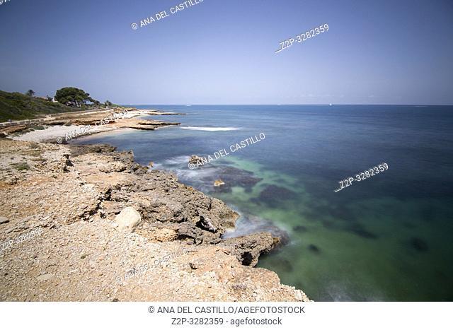 Las Rotas coast nature reserve in Denia ALicante Spain