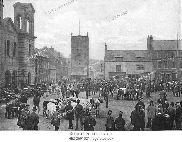 'Market-Place, Morpeth', c1896. Artist: M Aunty