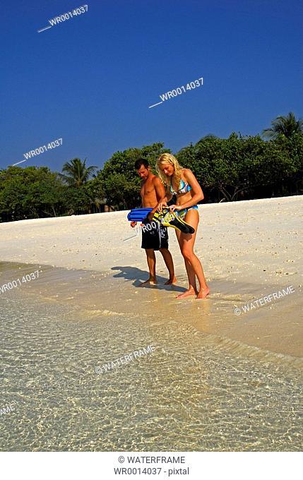 Going Snorkeling, Indian Ocean, Maldives
