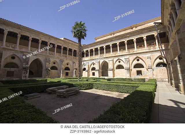 Cloister at Monastery of Santa Maria de Huerta. Soria province, Castilla-León, Spain