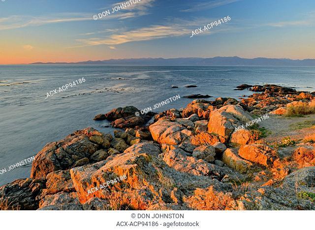 Rocks at Clover Point at dawn, Victoria, British Columbia, Canada