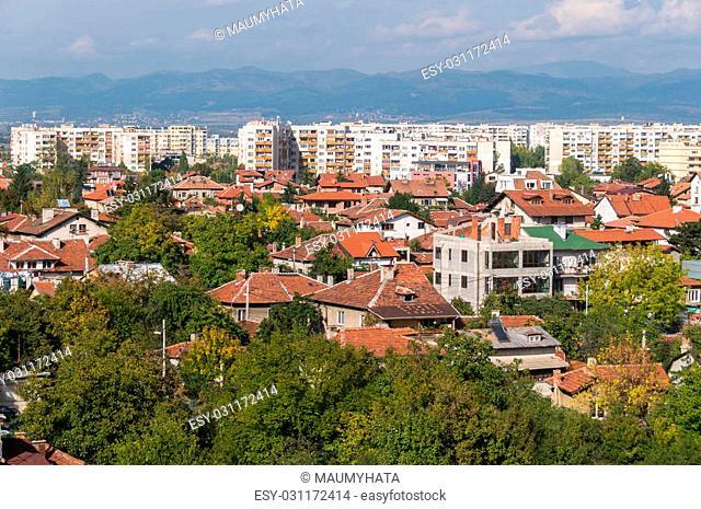aerial view Sofia Bulgaria, Housing district Summer