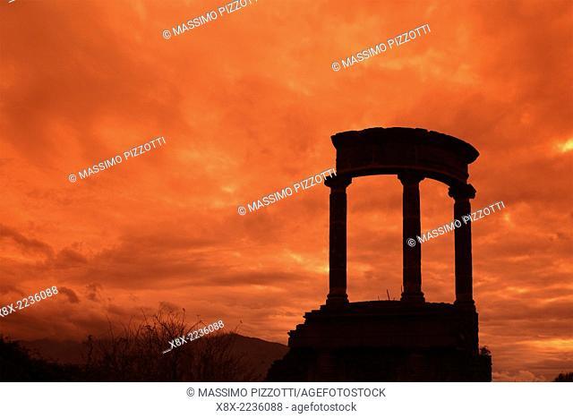 Columns at Pompeii, Naples, Italy