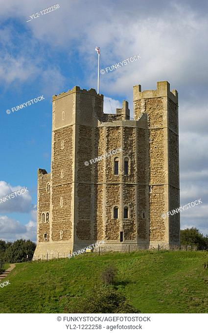 Norman Keep castle at Suffolk, Orford East Anglia, England  Near Aldeburgh