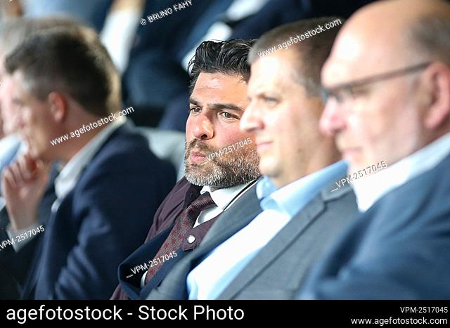 KBVB-URBSFA chairman Mehdi Bayat pictured during a press conference to present the 'home of Football' and the 2020-2021 season calendar by the Jupiler Pro...