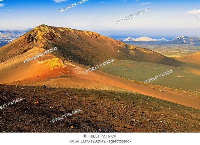 Spain, Canaries Islands, Lanzarote island, the National Park of Timanfaya