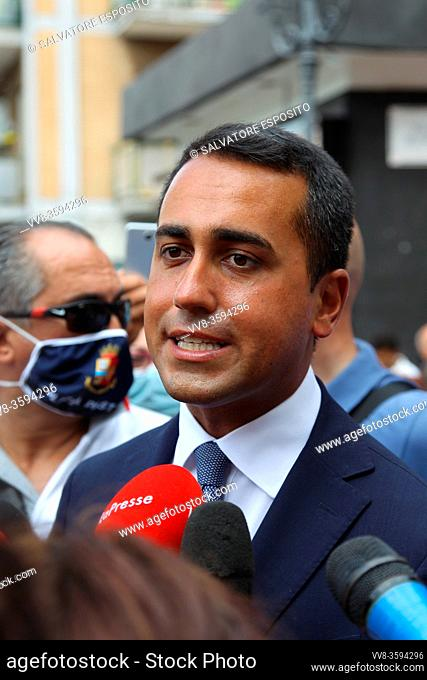 Luigi Di Maio, Foreign Minister (MINISTRO DEGLI ESTERI) during the tour to support the SI to the referendum on the cut of parliamentarians and the candidates of...