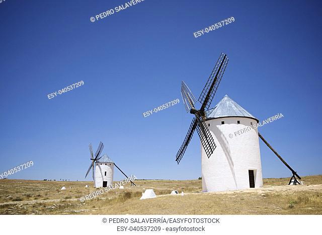 Windmills in Campo de Criptana, Ciudad Real Province, Castilla La Mancha, Spain