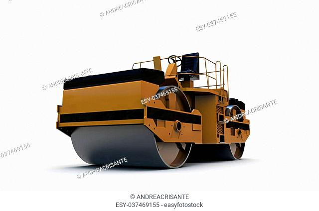 compactor isolated on white background